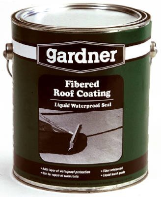 GARDNER-GIBSON CAULK & SEALANTS 441042 Gardner Fibered Roof Coating, 1 gallon