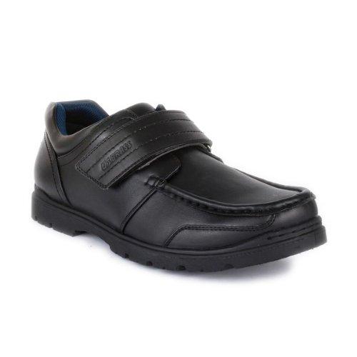 US Brass Mens Easy Fasten Shoe in Black - Size 6 UK - Black