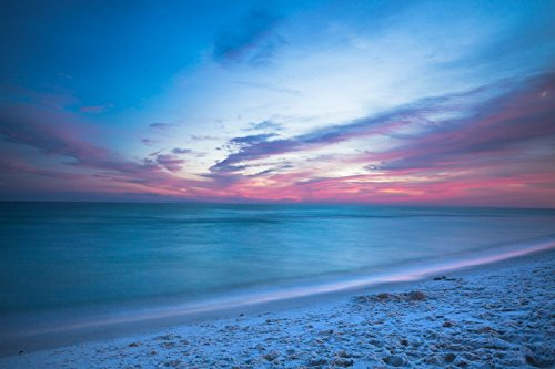 Beach and Ocean Photography Art Print - Picture of Emerald Waters Along Shore At Sunset in Florida Coastal Decor Artwork for Home Decoration 5x7 to - Stores Florida Destin