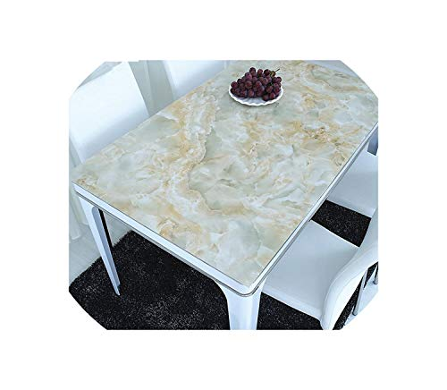 New PVC Opaque Table mats Marble Tablecloth Waterproof Crystal Sheet Color Soft Glass Printing Coffee Table Cloth ()
