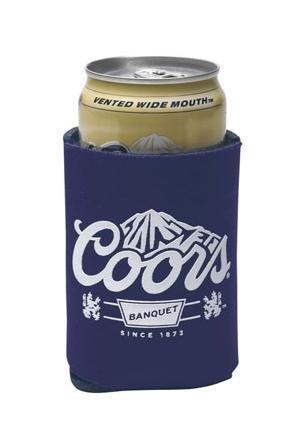Coors Original Banquet 12oz Beer Can Cooler Holder Kaddy Coolie -