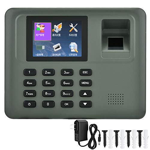 Fingerprint Attendance System, 2 8in LCD Password Fingerprint Time  Attendance Machine Access Control No Sofware Attendance System (US)
