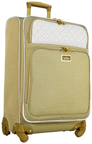 Nicole Miller Alexa 24' Expandable Luggage Spinner Wheeled Suitcase (White)