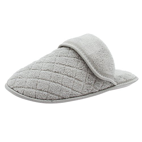 Barehugs Bare Hugs Ladies Terry Boxed Stitched Pillow Wedge Gris