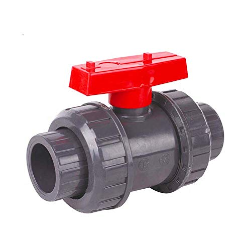 SHMONO 1'' Valves, PVC True Union Ball Valve, Full Port, EPDM Seal O-Ring, Rated at 200 PSI @73F, 1 inch Socket