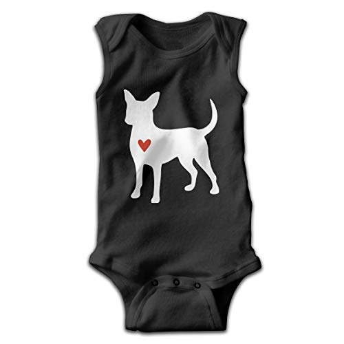 - Chihuahua Clipart Silhouette Infant Baby Girl Boys Sleeveless Romper Coverall Bodysuit Pajamas Black