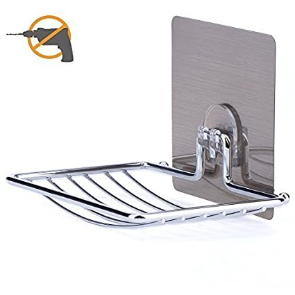LYUS Dish Soap Adhesive Soap Holder Chrome Hand Soap Dish Holder Stainless  Steel Dish Soap For