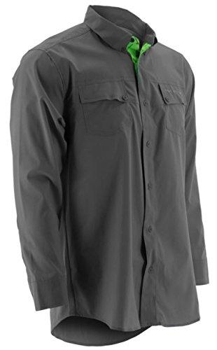 (Marolina Outdoor H1500005CGYM Huk Phenom Long Sleeve Shirt, Charcoal, Medium)