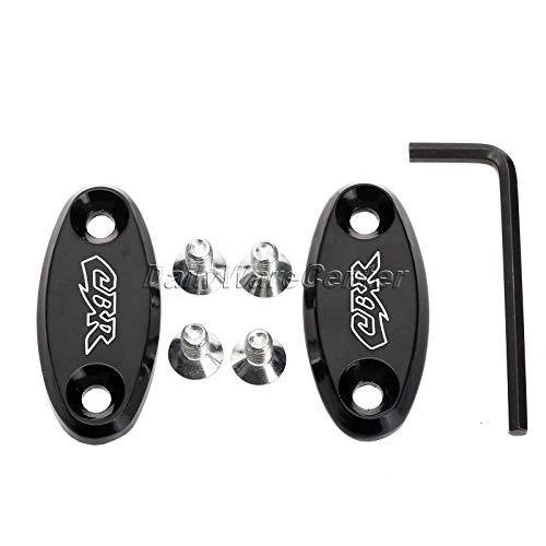 Daphot-Store - Black Motorcycle Aluminum Mirrors Block Off Base Plates for Honda CBR 600RR CBR 929RR CBR 954RR CBR 600F4 CBR 600F4i Motor Parts