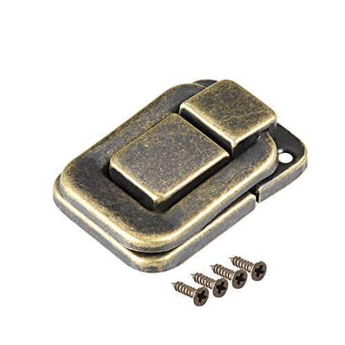 uxcell Toggle Catch Lock, 40mm Retro Decorative Bronze Hasp w Screws for Suitcase Chest Trunk Latches Clasp, Pack of 10 ()