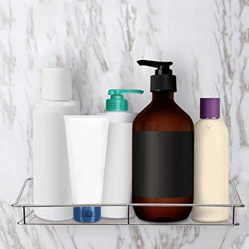 Maikouhai Stainless Steel Storage Rack Kitchen Bathroom Shelf Storage Wall Shelf Organizer for Paper Soap Towel Shampoo Storage - 35x12.5x6cm