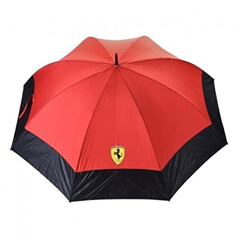 Ferrari Original Golf Paraguas con Print en Aspecto de Carbono: Amazon.es: Coche y moto