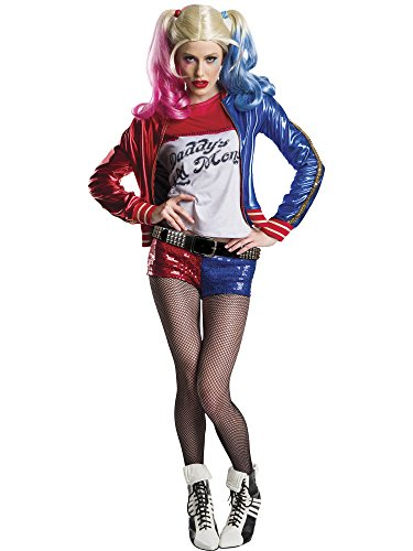 (Charades Women's Suicide Squad Harley Quinn Costume, As Shown,)