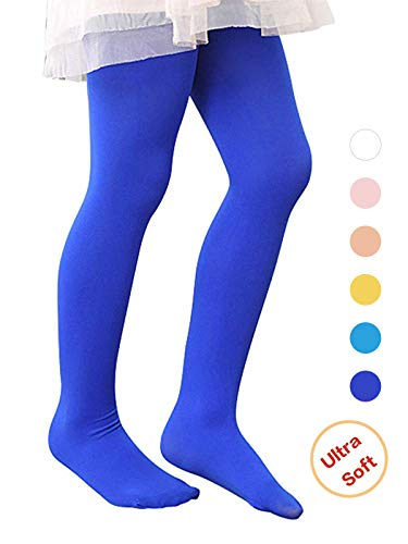 Century Star Ballet Dance Tights Footed Ultra-Soft Kids Super Elasticity School Uniform Tights For Girls 1 Pack Royal Blue Medium ()