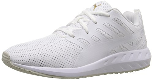 PUMA Women's Flare Leather Wn's Walking Shoe, Puma White, 7.5 M US