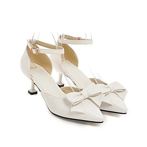 CXQ-Heels QIN&X Frauen Spitzen Zehe Stiletto Flachen Mund Prom High Heels Sandalen Schuhe Pumps White