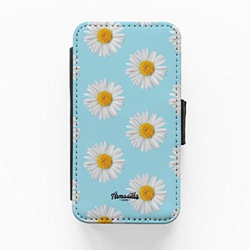 Daisys Blue Print Hochwertige PU-Lederimitat Hülle, Schutzhülle Hardcover Flip Case für iPhone 4 / 4s vom BYMBOW + wird mit KOSTENLOSER klarer Displayschutzfolie geliefert
