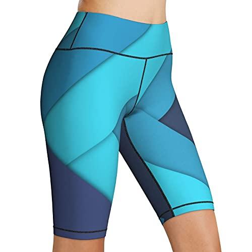 Hoge Taille Yoga Shorts Lijnen Pijlen Strips Art Vrouwen Biker Shorts Yoga's Workout Running Compressie Oefening Shorts