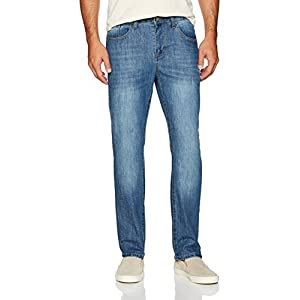IZOD Men's Comfort Stretch Relaxed Fit Jean, Breeze, 30×32