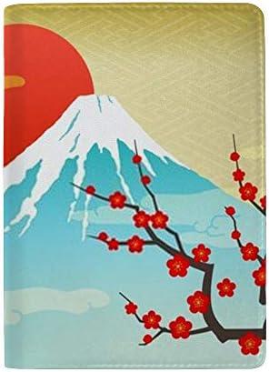 パスポートカバー ホルダー スキミング防止 多機能収納ポケット パスポートケース トラベルウォレット PUレザー エアチケット カードケース 収納ポーチ おしゃれ 綺麗な花柄 富士山柄 高級レザー 出張 便利グッズ 安全な海外旅行用