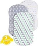 Bassinet Sheet Set | Cradle Fitted Sheets for Bassinet Mattress/Pads | Super Soft Jersey Knit Cotton | 3 Pack | 150 GSM |''Arrows'' Collection by BaeBae Goods …