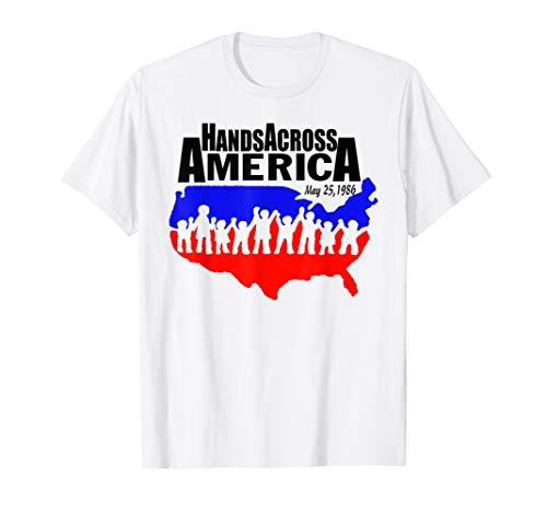 Top Across - Hands Across America Tee T Shirt Top For Mens Womens