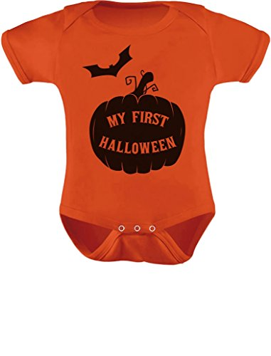 My First Halloween Baby Grow Vest Cute Pumpkin Infant Baby Bodysuit Newborn Orange