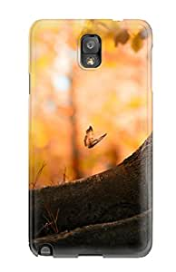 New Style Tpu Note 3 Protective Case Cover/ Galaxy Case - Butterfly Wood