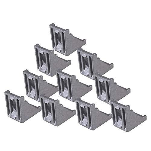 Ochoos 28x28mm Aluminum Profiles L Shape 90 Degree Brace Corner Joint Right Angle Bracket Fastener for Furniture Pack of 10 ()