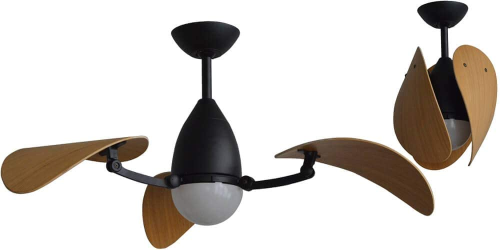 Martec | Ventilador de Techo con Luz Led Vampire y Motor DC | 4 Aspas | 3 Configuraciones de color de luz distintas | Incluye Mando a distancia | Consumo A+ |