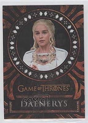 Emilia Clarke; Daenerys Targaryen (Trading Card) 2017 Rittenhouse Game of Thrones: Valyrian Steel - Laser-Cut #L2