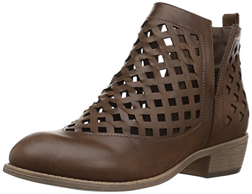 Brinley Co Women's Karma Ankle Boot Dark Brown UaYBHDWfDr