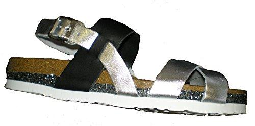 Dr. Brinkmann 710790-2 women sandal Silver/Black EHNfuvKka