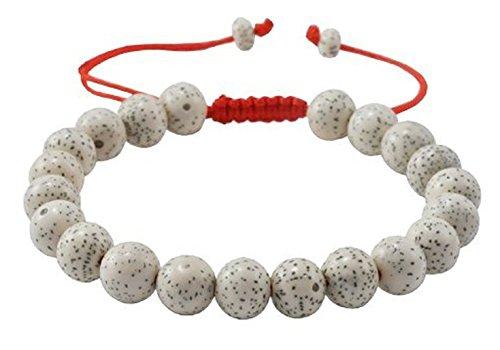 Healing Seed (Lotus Seed Bracelet Adjustable Tibetan Wrist Mala Bracelet Healing Meditation Yoga Buddhist Wood Chakra)
