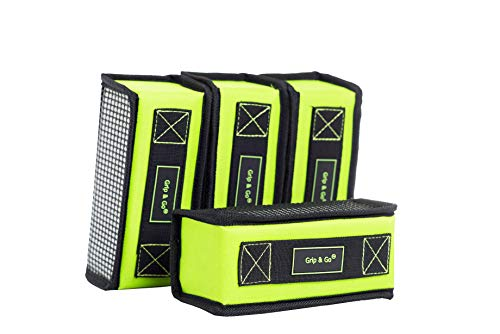 GRIP & GO - Planet Friendly, Set of 4, Non TIP, Multipurpose Cargo Trunk Organizers. Child Friendly. Hold Small, Medium and Large Items. Doesn't tip Over as The Soft Body Allows for Movement - Soft Cargo Trunk