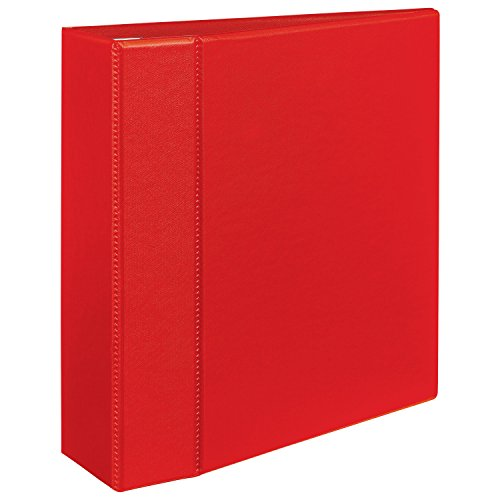 staples heavy duty 4 inch d 3 ring view binder red 24698 us cheap