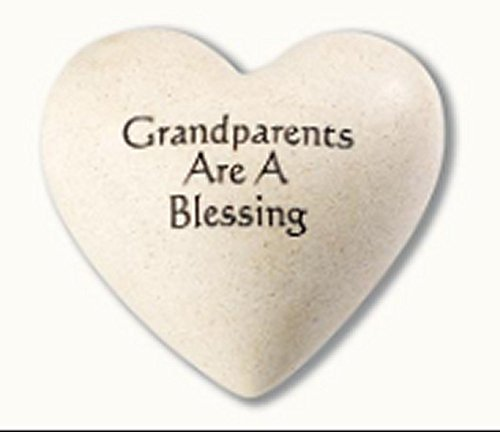 Grandparents Are a Blessing Composite Granite Heart