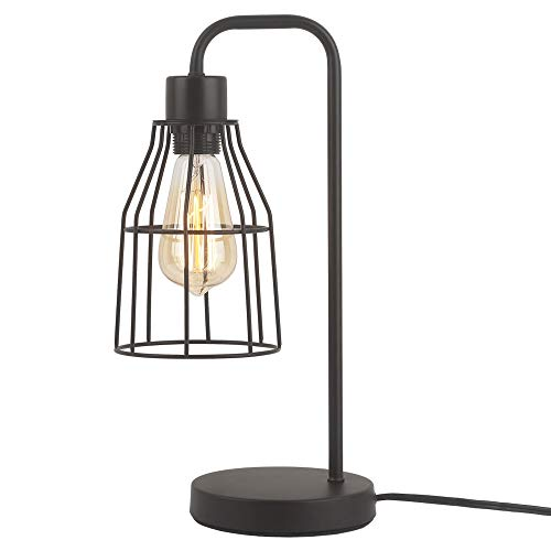 ZZ Joakoah Industrial Table Lamp, Metal Rustic Desk Lamp, Bedside Nightstand Lamp, E26 Edison Reading Lamp Light Fixture for Office, Bedroom, Living Room.