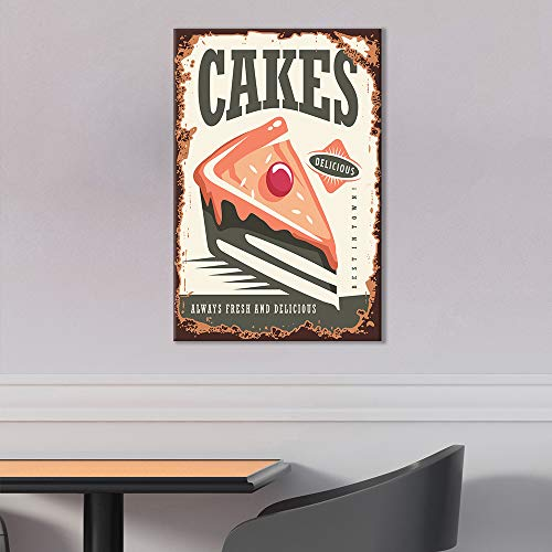 Vintage Poster Style Cakes Art
