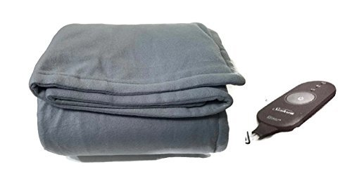Sunbeam Heated Electric Throw Blanket Fleece Extra Soft, Grey (50 in. X 60 in.)