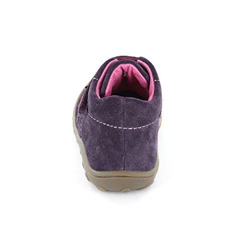 Lurchi 33-14436-29 Groby - Zapatos primeros pasos de Piel para niña BLACKBE morado