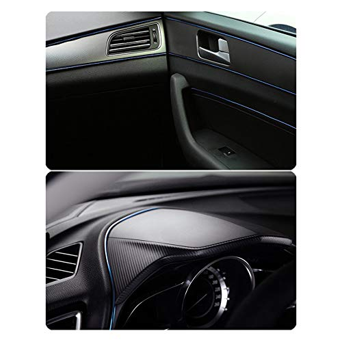 Universal Car Styling 5M voiture d/écoration int/érieure bandes de moulage ligne porte tableau de bord volant flexible bande d/étanch/éit/é bleu