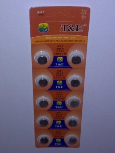 10x-AG-7-Uhrenbatterie-395-399-926-927-fr-Armbanduhr-Knopfzelle