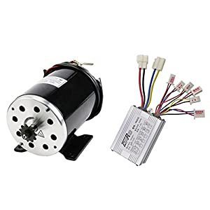 JCMOTO 36v 800w Brushed Speed Motor and Controller Set for Electric Scooter Go Kart Bicycle e Bike Tricycle Moped