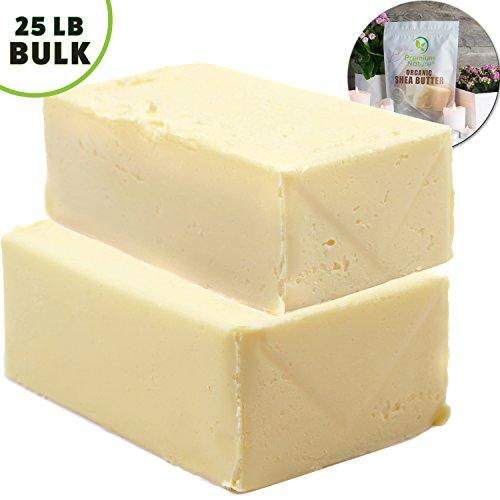 Shea Butter Raw Organic African - 25 lb Wholesale BULK Pure