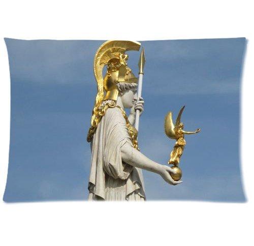 Athena Throw Pillow (Pallas Athena statue Vienna Zippered Pillow Cases Cover 20x30)
