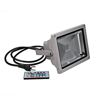 Solar Wall Lights Screwfix : KLAREN Remote Control 10W RGB Waterproof LED Flood Light Landscape Spotlight Wall Washer Light ...