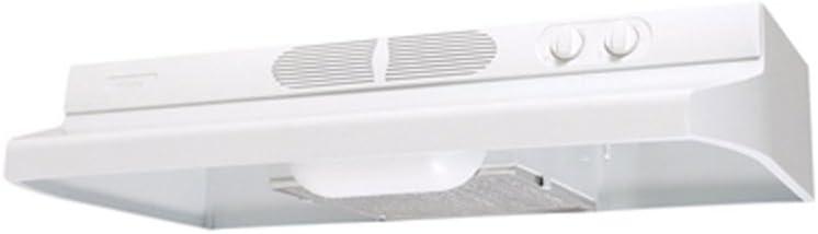 Air King QZ2363 36-Inch Quiet Zone Under Cabinet Range Hood with Infinite Speed Control, 260-CFM, White Finish