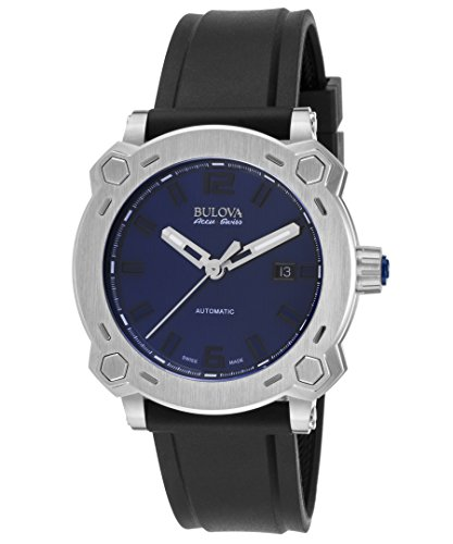 Bulova Men's Automatic Stainless Steel and Rubber Casual Watch, Color:Black (Model: 63B190)