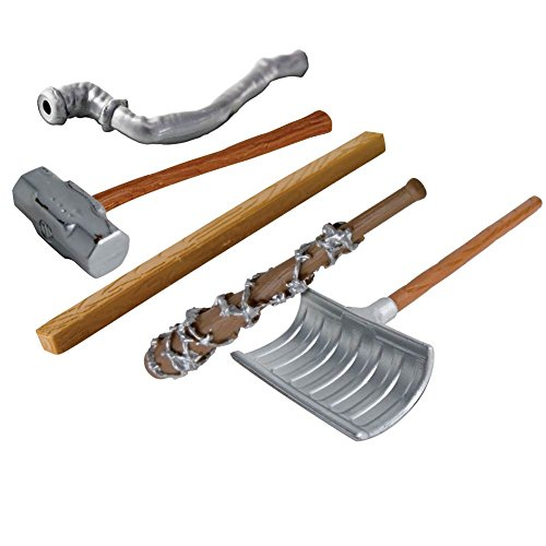 Wrestling Figure Gear Deal 13: Pipe, Sledgehammer, 2x4, Shovel, Broom For WWE Wrestling Action Figures by Figures Toy Company